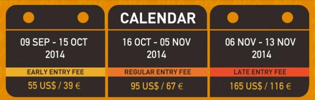 Calendar and Fees