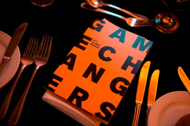 "The program & theme for the evening. ""Gamechangers"""