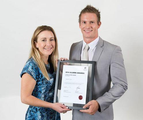 Jacob Cass Newcastle Young Alumni Award Winner