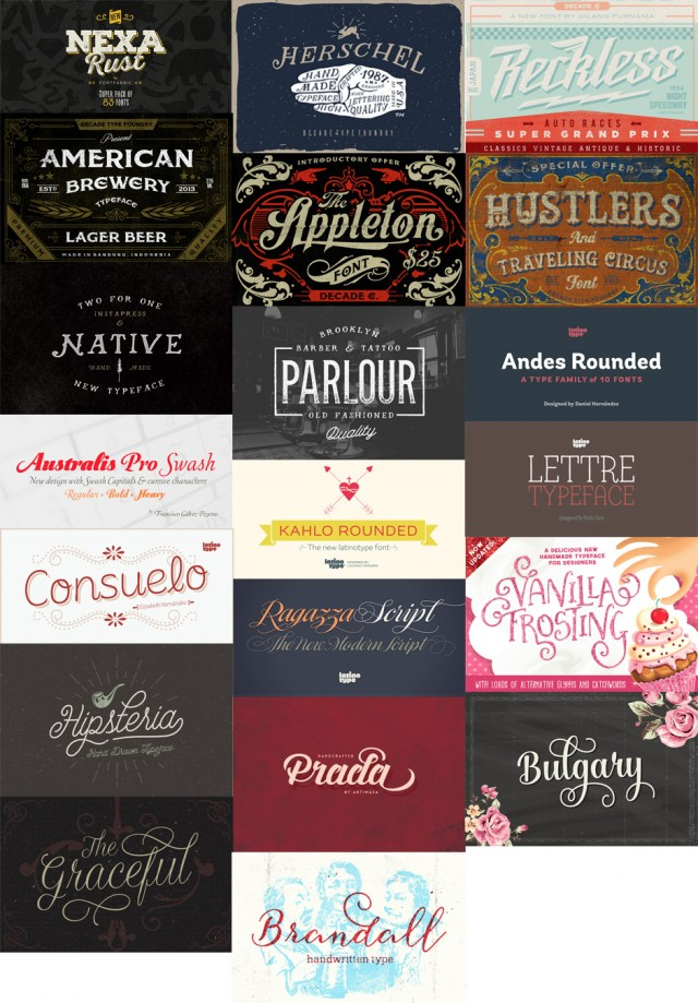 20 Best Selling Creative Fonts Preview