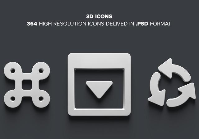 Puffy Minimal 3D Icons