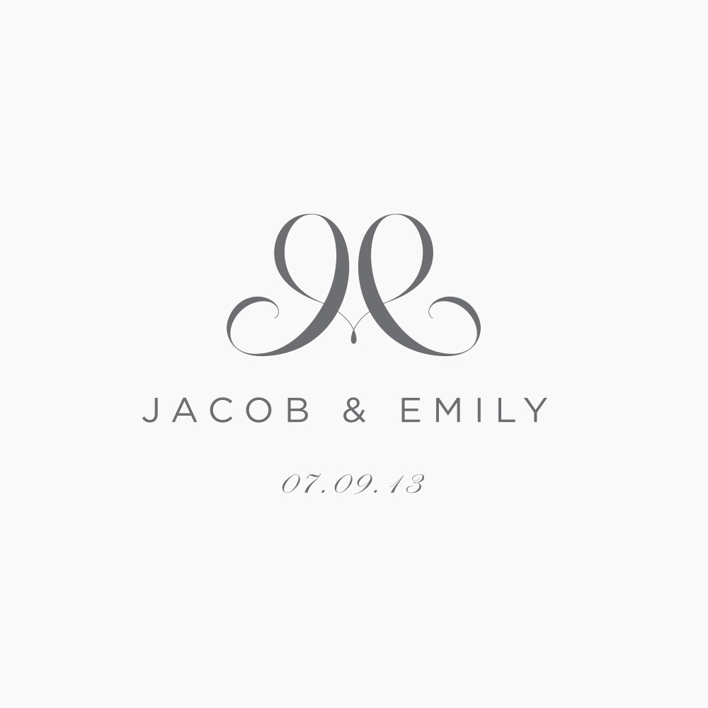 J Amp E Wedding Logo Just Creative