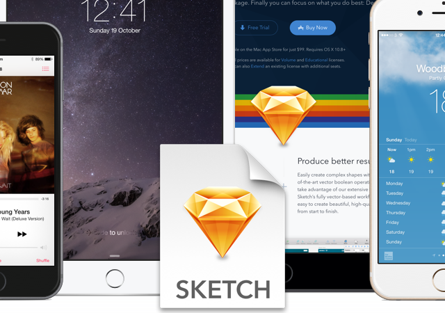 Ios device mockups for sketch