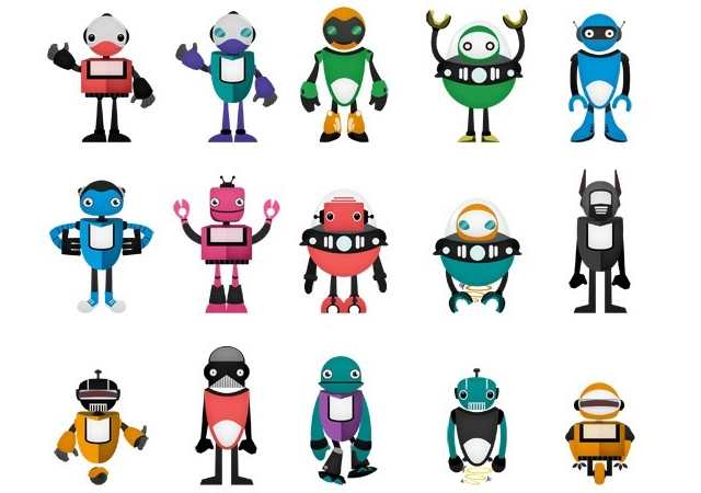 Robot Vector Pack: More than 1000 Possibilities!