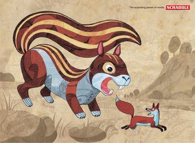 Scrabble Squirrel