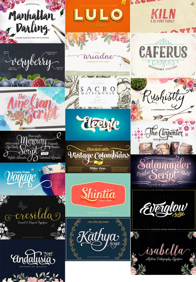 22 Awesome Creative Fonts