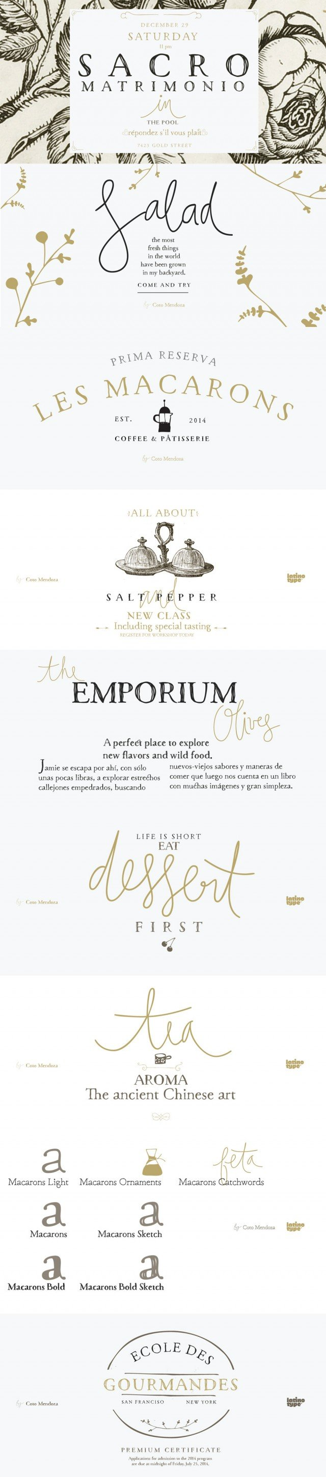 Macarons Font Preview