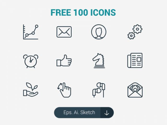 100 Free Sketch Icons