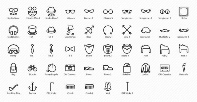 Hipster Style Icons