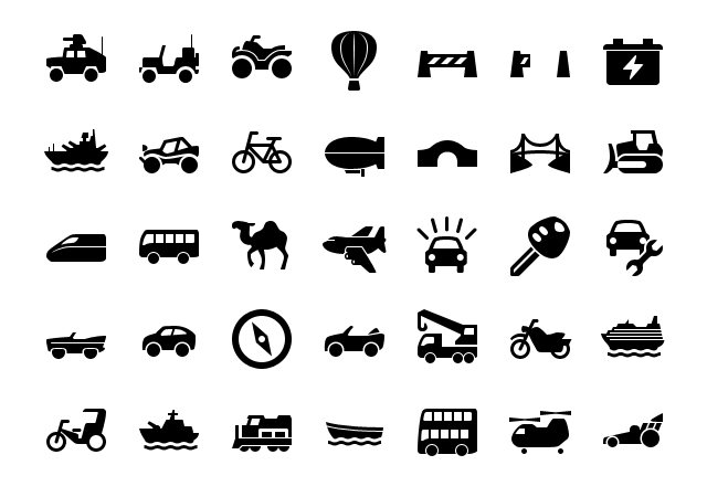 IPhone Transportation Icons