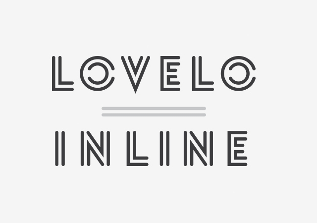 Lovelo Inline Font