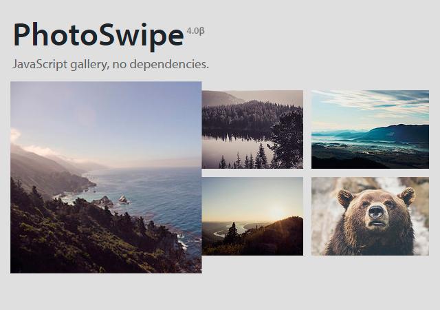 PhotoSwipe: JavaScript Image Gallery