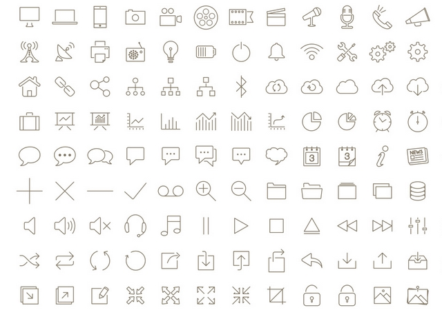 Tonicons: A Free Font of 200 Outline Icons