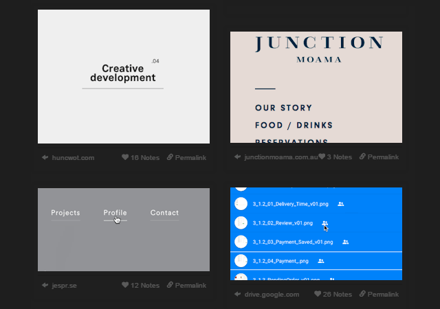 A Library Of User Interaction Inspiration Designs
