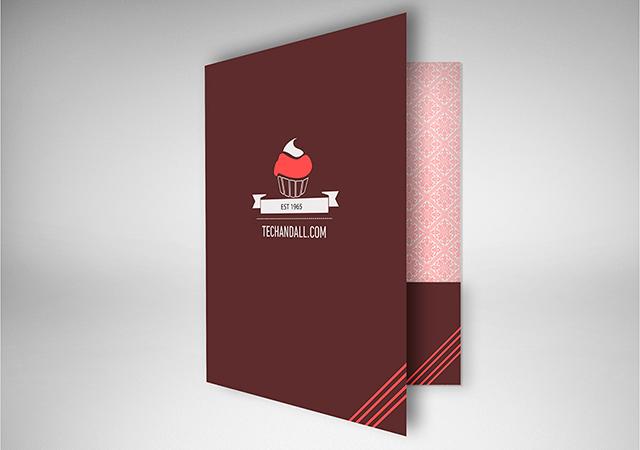 Creative Folder Mockup in PSD