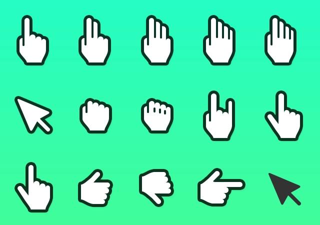Hand Cursor Icons for Sketch