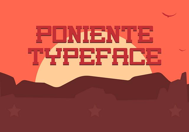 Poniente Free Typeface