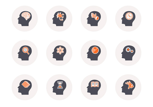 Thinking Heads PSD Icons