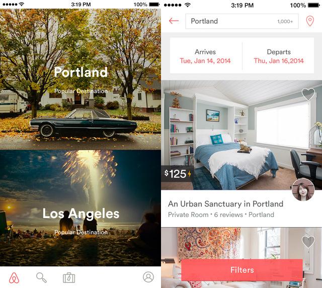 Airbnb iPhone Travel App