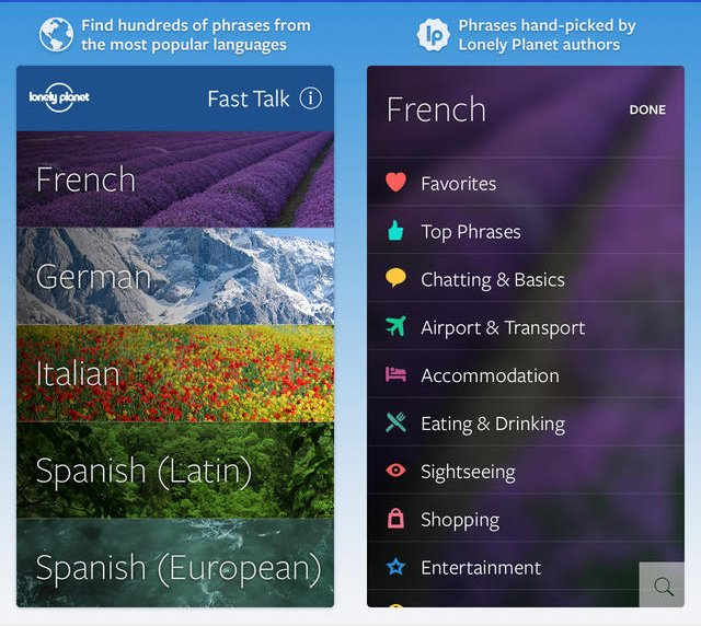 Lonely Planet Fast Talk iPhone App