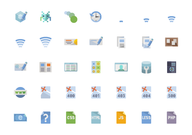 Flat Web Design Icons