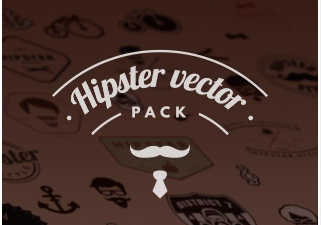 Huge Hipster Vector Design Pack