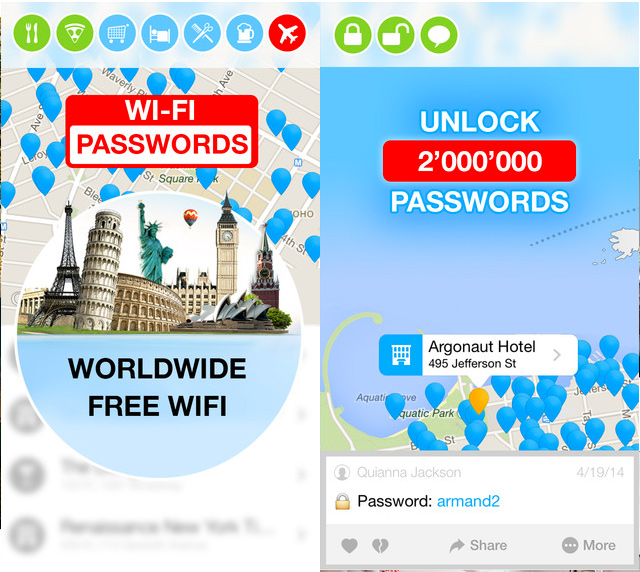 WiFi Map Pro iPhone Travel App