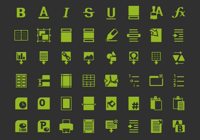 Professional Text Icons Pack
