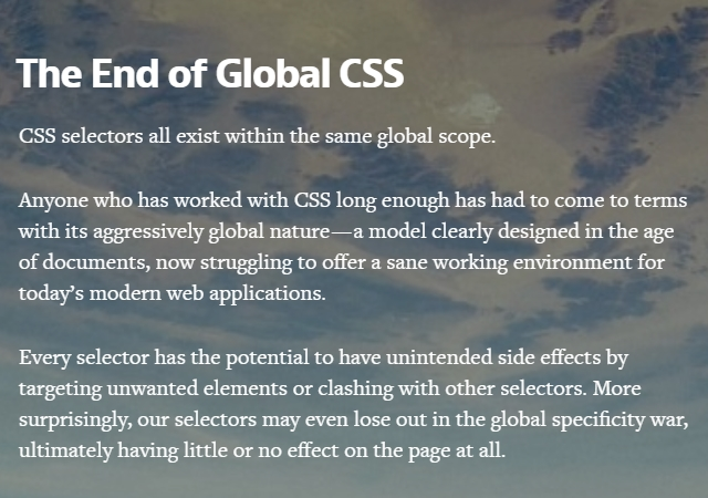 The End of Global CSS (Article)