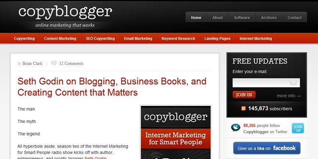 Copyblogger screenshot
