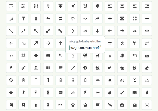 Glyph: a Semantic and Versatile SVG Icon Set
