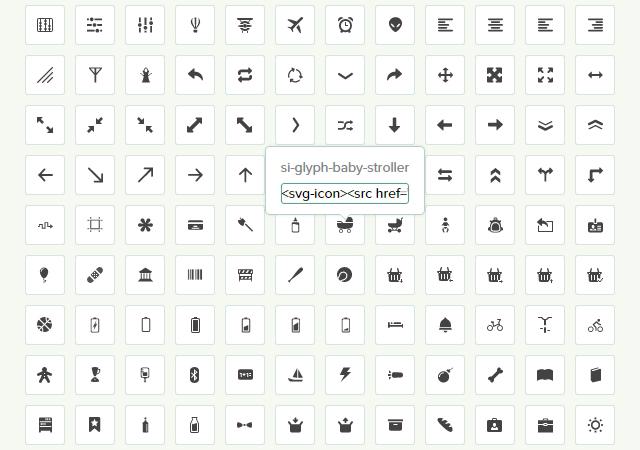 Glyph: a Semantic and Versatile SVG Icon Set
