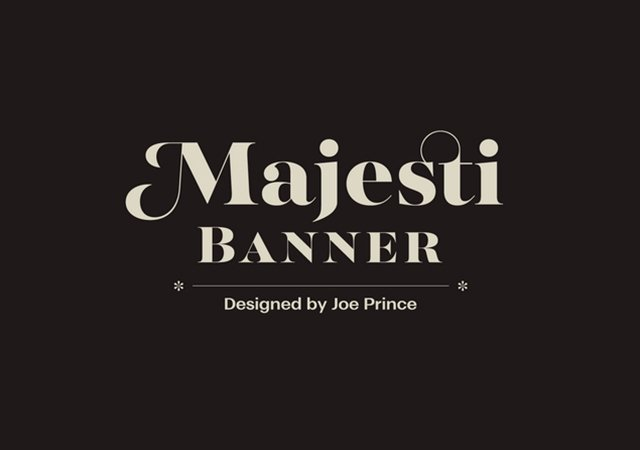 Majesti Banner: Elegant Rounded-Edged Typeface for Titles