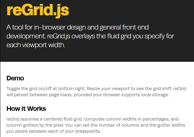 ReGrid: Responsive Front-end Development JQuery Grid