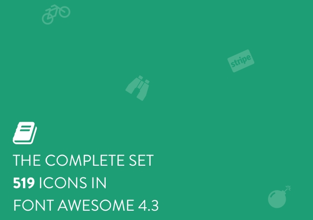 519 Font Awesome 4.3 Sketch Icons Set