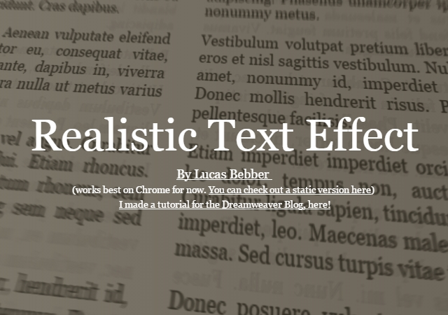 Creating Realistic Text with CSS (Article)