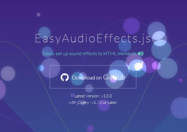 JQuery Audio Effects Plugin