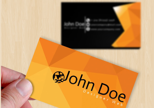 LowPoly Background Business Card Template