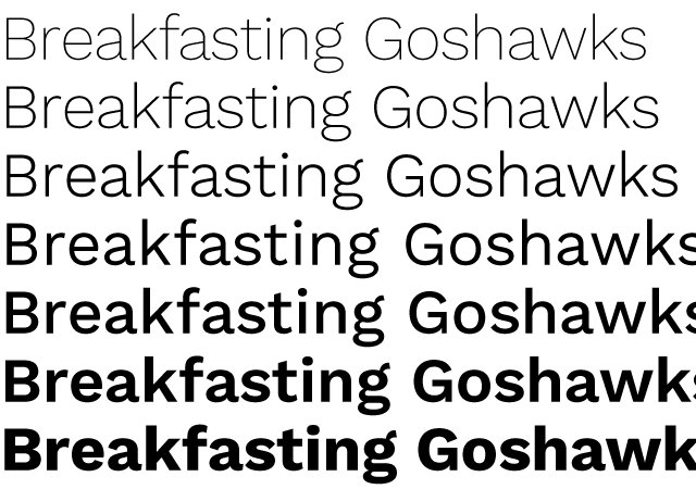 Work Sans: A Multi-weight Sans Typeface