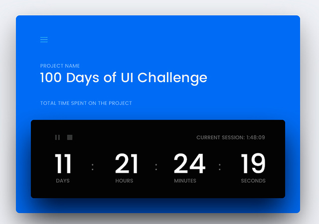 100 Days UI: Daily Feed for Inspirational Purposes