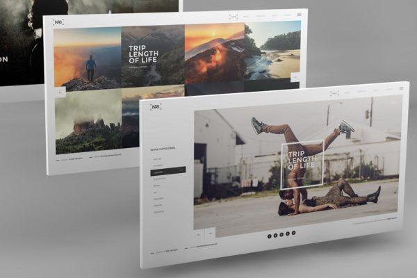 3D desktop screen mock-ups