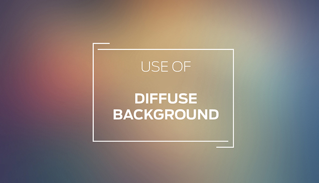 Use Of Diffuse Background