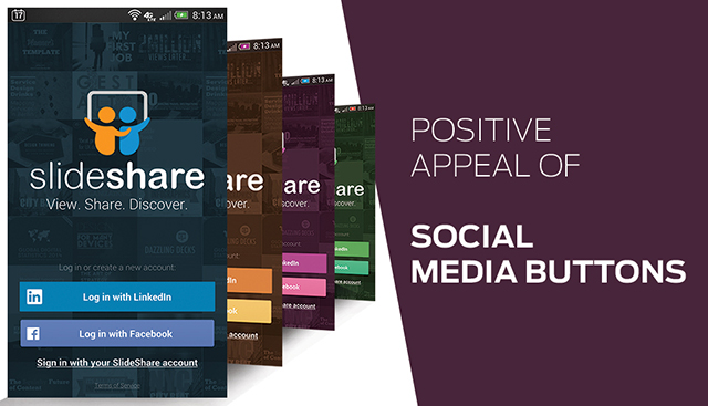 Positive Appeal of Social Media Buttons