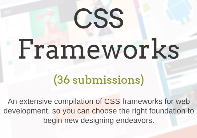 A Curated Collection of 36 CSS Frameworks