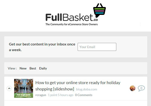 Full Basket: The Community for ECommerce Store Owners