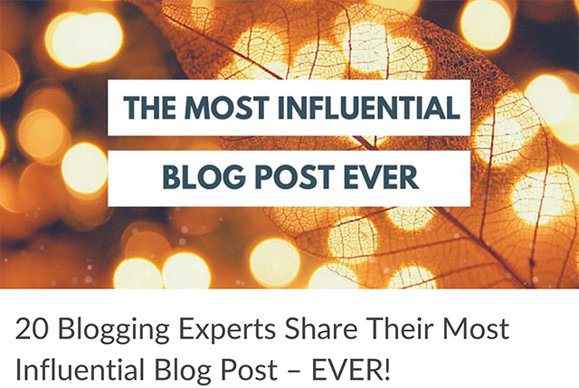 Influential Blog Post