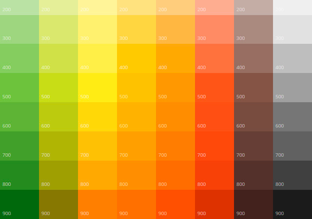 MaterialUI: User Interface Colors and Icons
