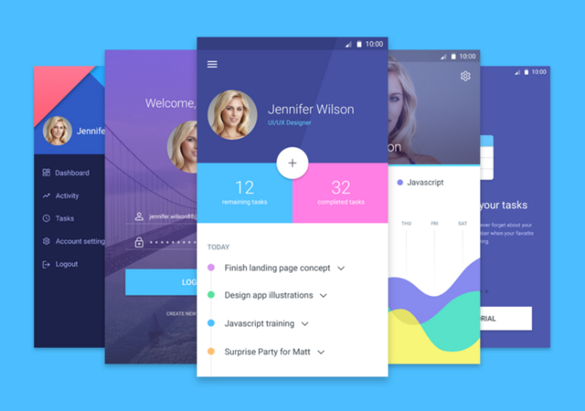 Mobile Material Screens UI Kit