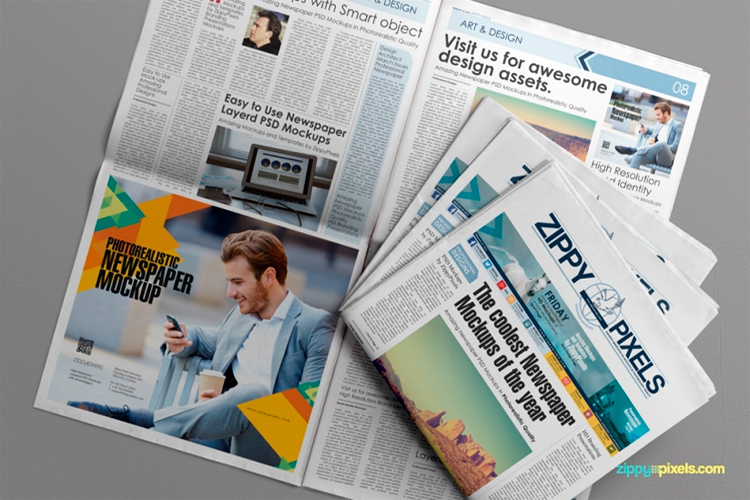 Newspaper and Advertising Mockups