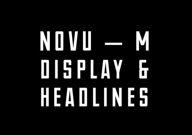 NOVU-M: Modern Uppercase Typeface